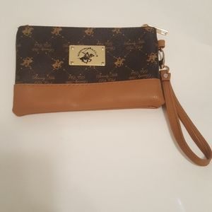 Beverly hills polo club wristlet with strap